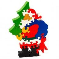 Puzzoo 3D puzzle, Mikulás fenyőfával 1616
