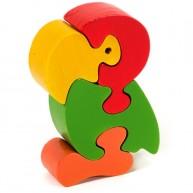 Puzzoo 3D puzzle, papagáj ( kicsi ) 1635