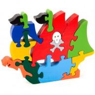 Puzzoo 3D puzzle kalózhajó 1671