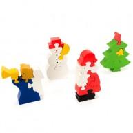 Puzzoo 3D puzzle, Karácsonyos 4 részes készlet 1623