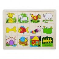 IMP-EX Felező puzzle, állatos 0525