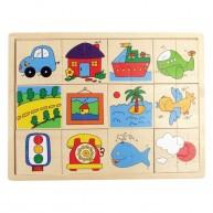 Felező puzzle, járműves  0526