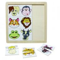 IMP-EX Fa arcfelismerős,párosítós puzzle, állatos 0857