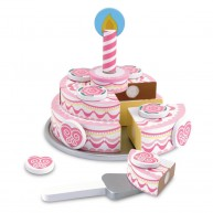 Melissa & Doug fa szeletelhető játék emeletes szülinapi torta 4069