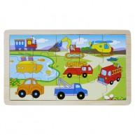 Puzzle 15 db-os járműves 3264