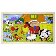 IMP-EX puzzle 15 db-os farm állatai 3263