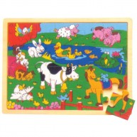 IMP-EX puzzle 20 db-os farm állatai 0861