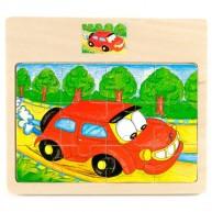 VIGA Puzzle kirakó 12db-os autós 0006