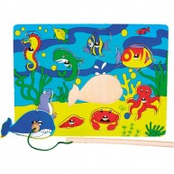 VIGA Mágneses horgász puzzle - tenger állatai 0072