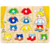 Fogantyús öltöztető puzzle, kisfiú  1 éves kortól 0050