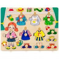 Fogantyús öltöztető puzzle, kislány 1 éves kortól 0049