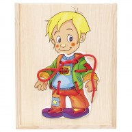 Legler Öltöztetős fűzőcskés játék , kisfiú 90018
