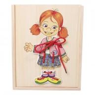 Legler Öltöztetős fűzőcskés játék, kislány 90017