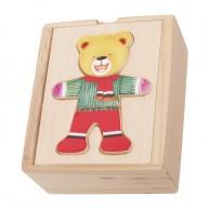 IMP-EX Öltöztethető mini maci fiú puzzle dobozban 0114