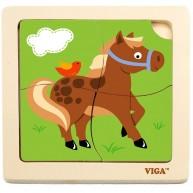 VIGA puzzle lovacskás 4db-os 4231C