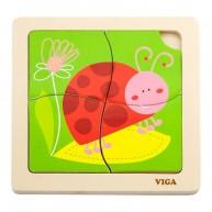 VIGA puzzle katicás 4db-os  3681