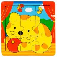 Puzzle cicás 9db-os 2889