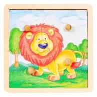 VIGA Fogantyús Puzzle 4db-os  oroszlános 1 éves kortól 0038