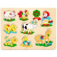 Fogantyús puzzle kicsiknek bárányos 1 éves kortól 0059