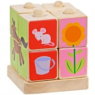 Mentari Montessori képkirakó kocka 4260