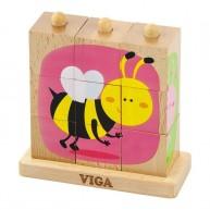 VIGA montessori képkirakós rovaros 3442