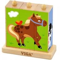 VIGA montessori képkirakó farmos 4249