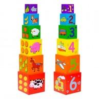 Torony építő kocka háziállatos bábeltorony 2037