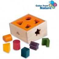 Wonderworld formafelismerős fajáték gyűjtő dobozzal - narancssárga  4355