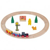 Mentari fa alap vonat készlet 20db-os 4286