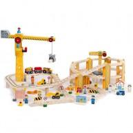 Mentari fa vonatkészlet daruval és flexibilis sínekkel- 82db-os 4294