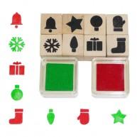 Fakopáncs  10 darabos nyomdakészlet, karácsonyos   2962-D