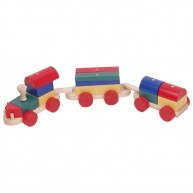 IMP-EX Színes fa vonat építő 2 vagonos 0375