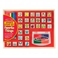 Melissa & Doug Nagy nyomdakészlet színes ceruzákkal, 26db-os kedvenc ábrák 9362
