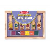 Melissa & Doug Könnyen megfogható pecsétek - 6db Happy Handles 2407