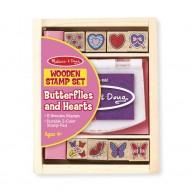 Melissa & Doug Nyomdakészlet, 8 darabos,  pillangók és szívek  2415