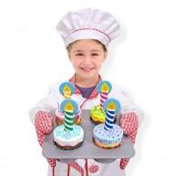 Melissa & Doug játék muffin készítő születésnapra fából - Cupcake 4019