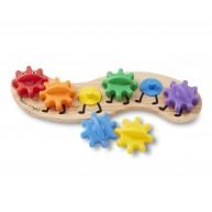 Melissa & Doug Fa készségfejlesztő játék - fogaskerekű hernyó 3084