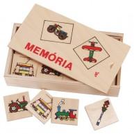 IMP-EX  Memória játék fa dobozban - járműves 0140