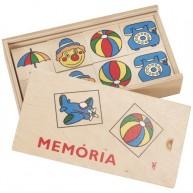 Memória játék gyerekeknek fa lapokkal dobozban - vegyes 0139