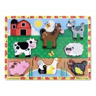 Melissa & Doug magasított puzzle - farm 3723