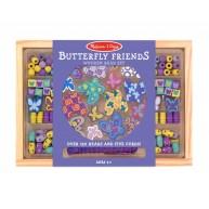 Melissa & Doug gyöngyfűzős játék pillangós motívumokkal 4179
