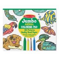 Melissa & Doug Jumbo színező füzet állatos 50db-os 4200