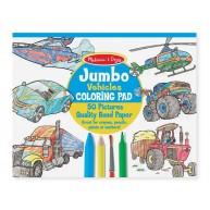 Melissa & Doug Jumbo színező füzet járműves 50db-os 4205