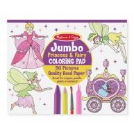 Melissa & Doug Jumbo színező füzet tündéres és hercegnős 50db-os 4263