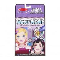 Melissa & Doug vízzel festhető füzetek MakeUp Water WOW! 4 képes 9416