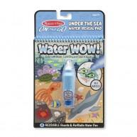 Melissa & Doug vízzel kiszínezhető füzet a tenger élővilága Water WOW! 4 képes 9445
