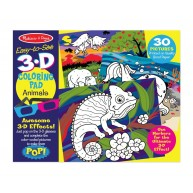 Melissa & Doug 3D színező könyv -állatok