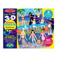 Melissa & Doug 3D újrahasználható matrica készlet - divat 9374
