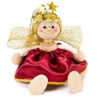 IMP-EX rugós angyal figura piros ruhában 3843-68