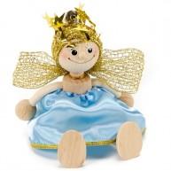 IMP-EX rugós angyalka figura kék ruhában 3843-71